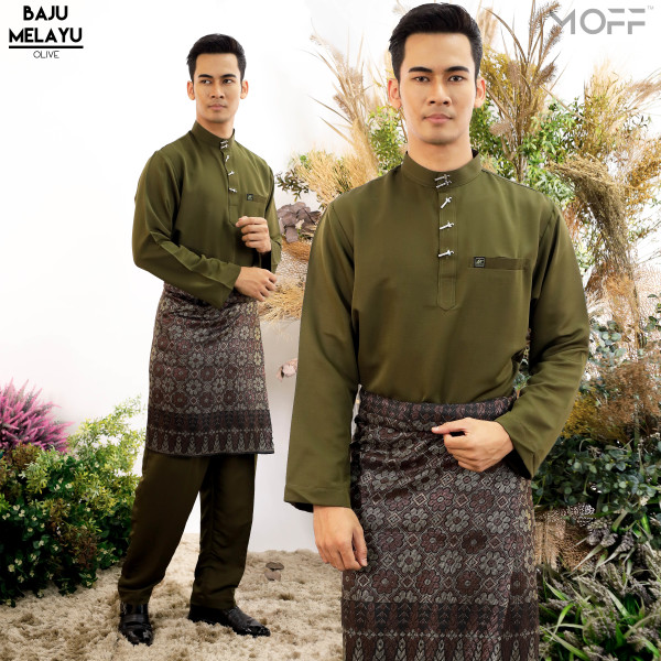 BAJU MELAYU MODEN OLIVE - moff collection
