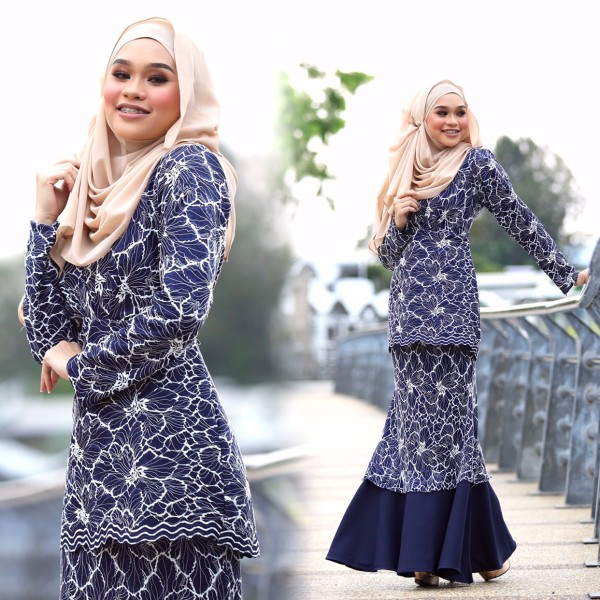 KURUNG JASMINE NAVY BLUE - moff collection