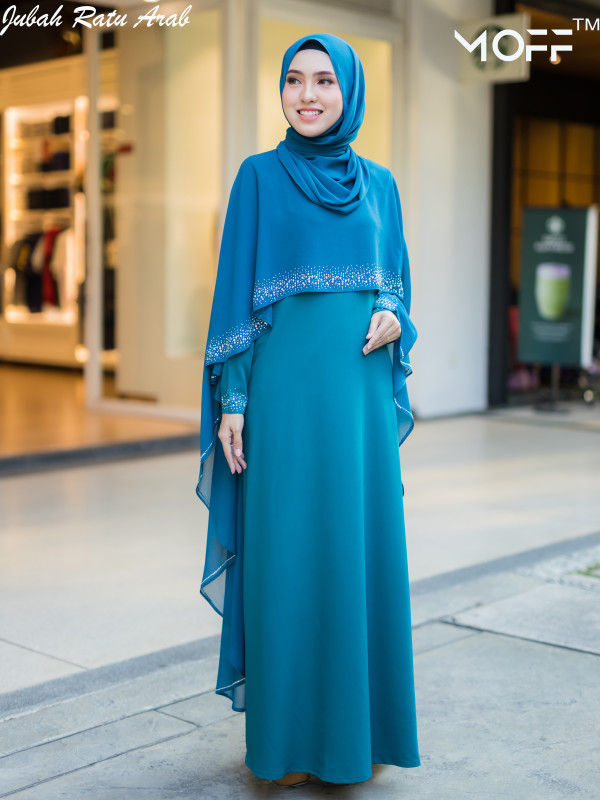 JUBAH ARAB TEAL BLUE - moff collection