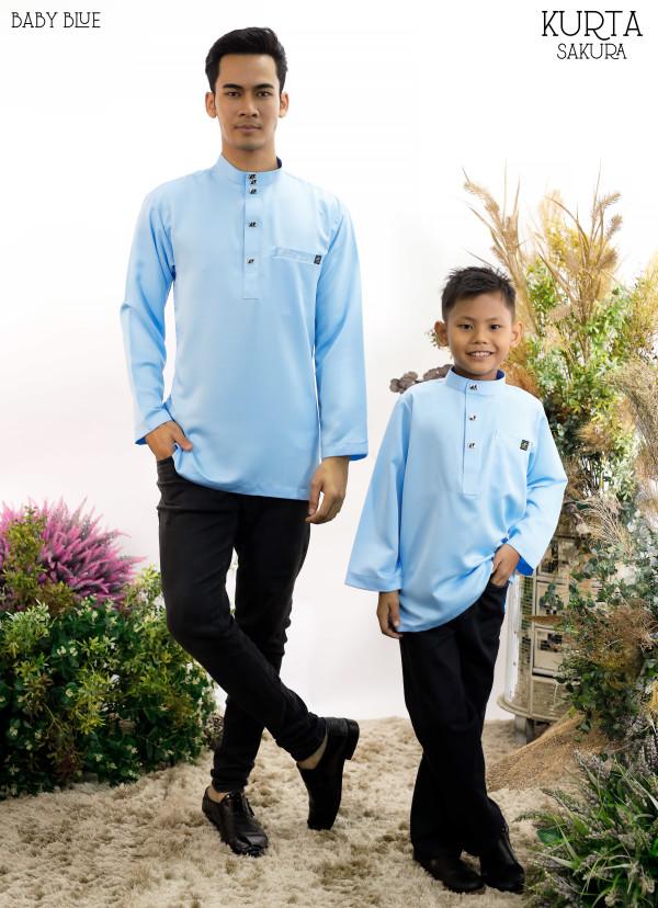 KURTA RAYYAN BABY BLUE - moff collection