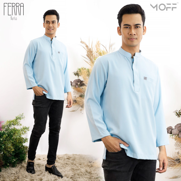 KURTA FERRA BABY BLUE  - moff collection