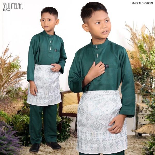 BAJU MELAYU BUDAK EMEMRALD GREEN - moff collection