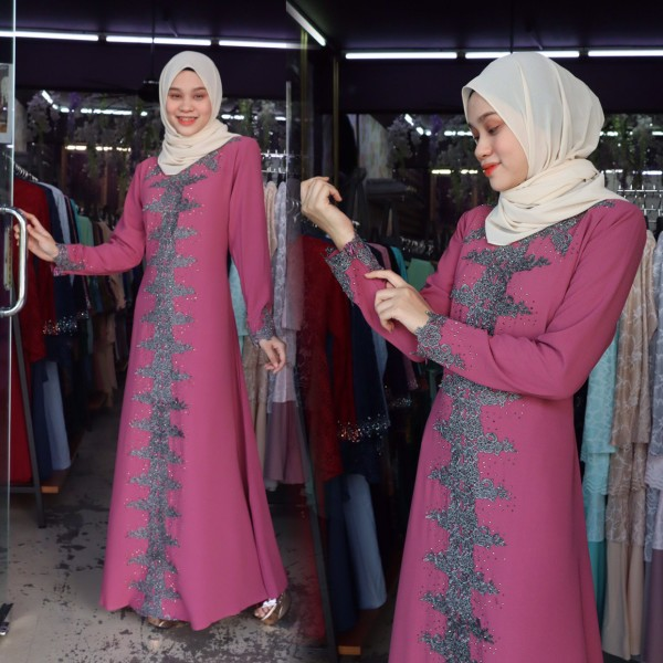 JUBAH RATU DUSTY PINK - moff collection