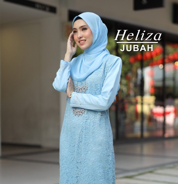 JUBAH HELIZA BABY BLUE - moff collection