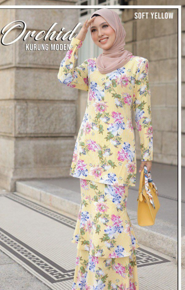 KURUNG MODEN ORCHID YELLOW - moff collection