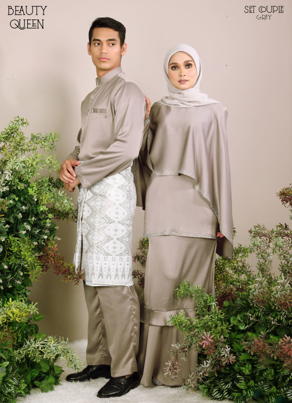 KURUNG BEAUTY QUEEN GREY - moff collection