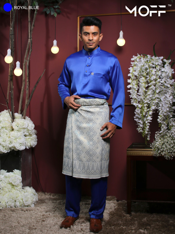 BAJU MELAYU ROYAL BLUE - moff collection