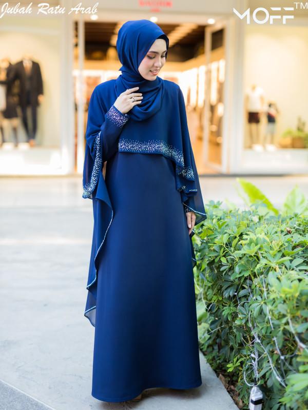 JUBAH RATU ARAB NAVY BLUE - moff collection