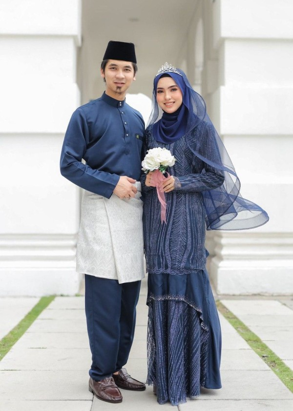 SET COUPLE MARDIYA NAVY BLUE - moff collection