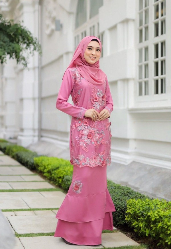 KURUNG AMEERA EXCLUSIVE DUSTY PINK - moff collection