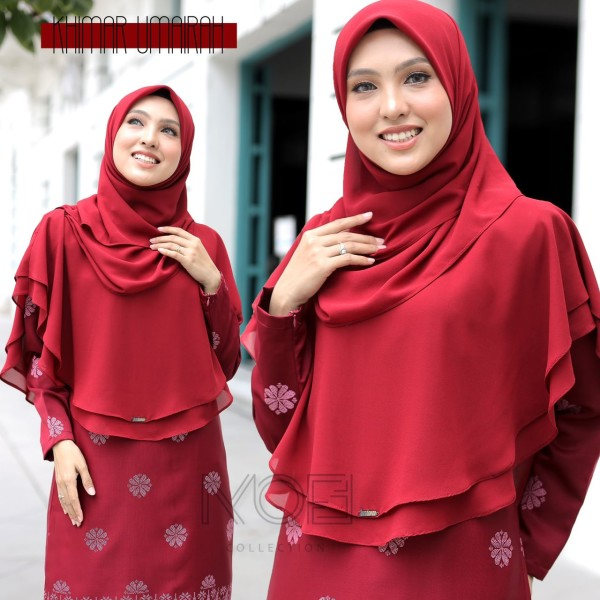 KHIMAR UMAIRA MAROON - moff collection