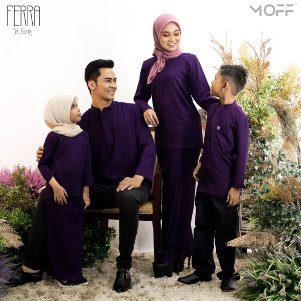 KURUNG KEDAH FERRA DARK PURPLE - moff collection