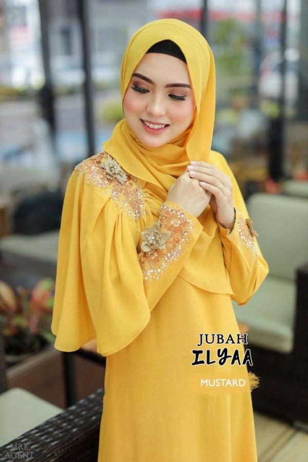 JUBAH ILYAA MUSTARD - moff collection