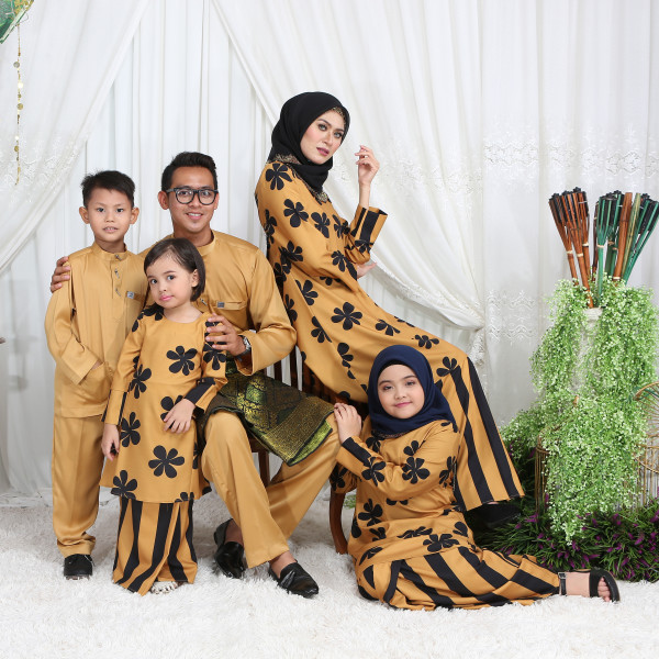 KURUNG RIAU RETRO MUSTARD  - moff collection