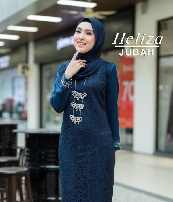 JUBAH HELIZA NAVY BLUE - moff collection
