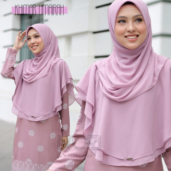 KHIMAR UMAIRA DUSTY PURPLE - moff collection