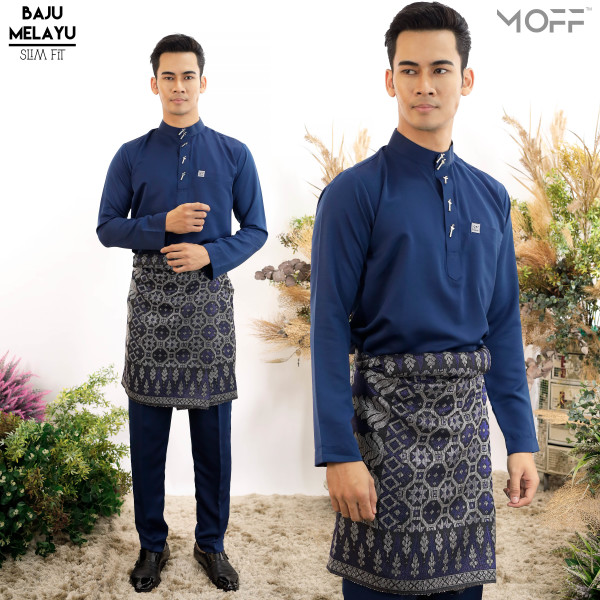 SLIM FIT  PINE NAVY BLUE - moff collection