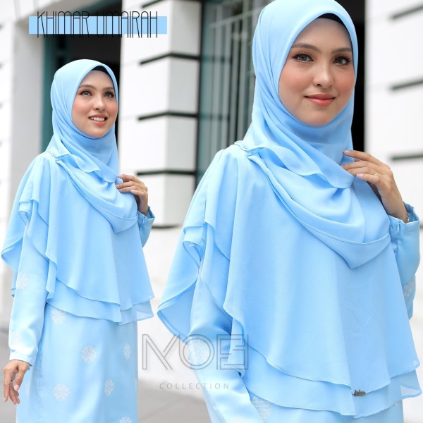 KHIMAR UMAIRA BABY BLUE - moff collection
