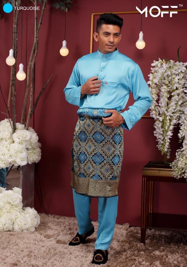 BAJU MELAYU SKY BLUE - moff collection