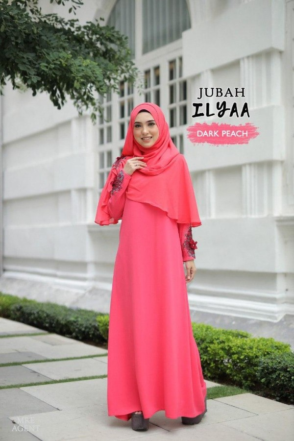 JUBAH ILYAA DARK PEACH - moff collection