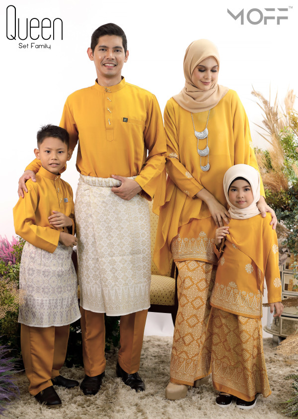 SET FAMILY KURUNG QUEEN GOLD - moff collection