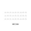 Artisan Pro Delicat 7351 - DE7351 (Lower Lashes) - Fristellea