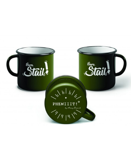 ENAMEL MUG GREEN - AMY SEARCH GENERAL PRODUCTS CO
