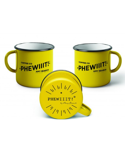 ENAMEL MUG YELLOW - AMY SEARCH GENERAL PRODUCTS CO