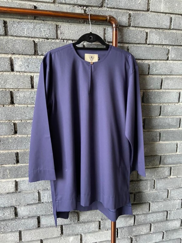 KURTA - NAVY BLUE ( SLIM SLEEVE  - AMY SEARCH GENERAL PRODUCTS CO