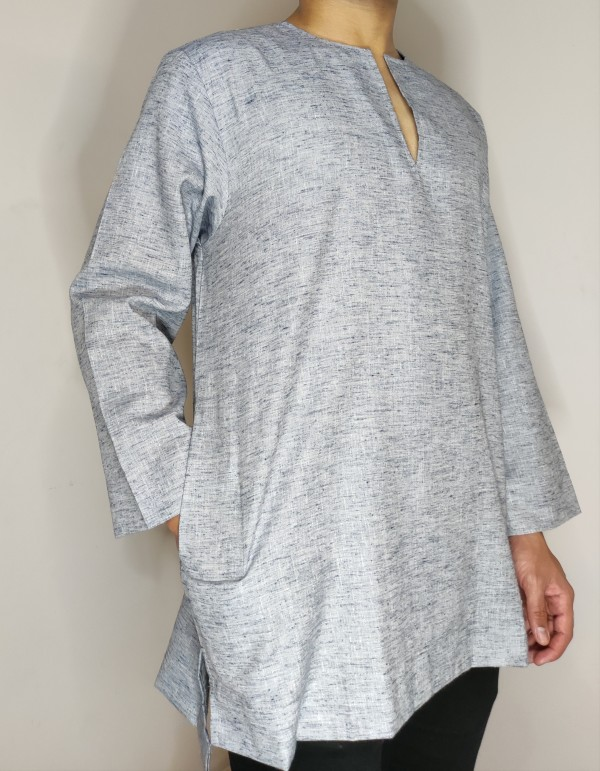 Kurta SlimCut - Sapphire Blue - AMY SEARCH GENERAL PRODUCTS CO