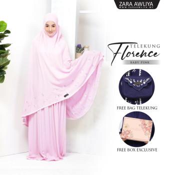 Telekung Florence - Dusty Pink - ZARA AWLIYA