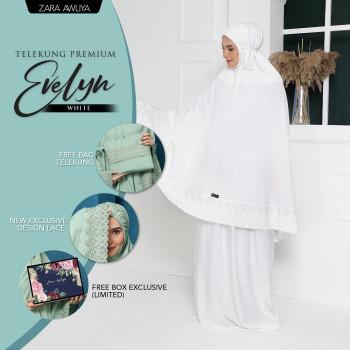Telekung Premium EVELYN - Off White