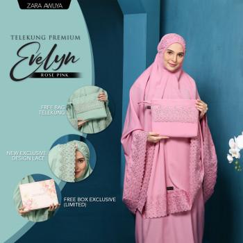 Telekung Premium EVELYN - Rose Pink