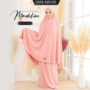 Telekung Madeline - Light Rose - ZARA AWLIYA