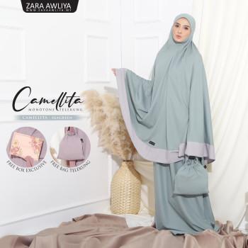 Telekung Camellita - Purple Plum (Ready Stock) - ZARA AWLIYA