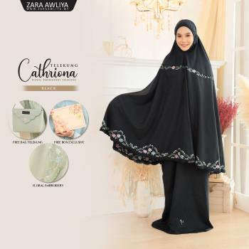 Telekung Cathriona - Black - ZARA AWLIYA