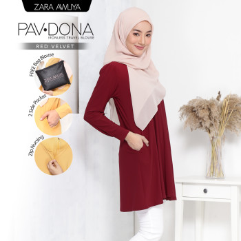PAVDONA IRONLESS BLOUSE - Butterscotch - ZARA AWLIYA