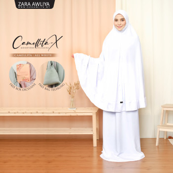 Telekung Camellita-X - Light Rose (Ready stock) - ZARA AWLIYA