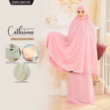 Telekung Cathriona - Dusty Pink