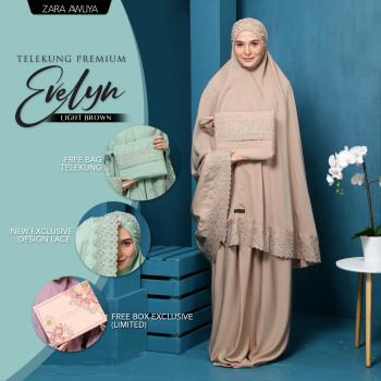 Telekung Premium EVELYN - Light Brown