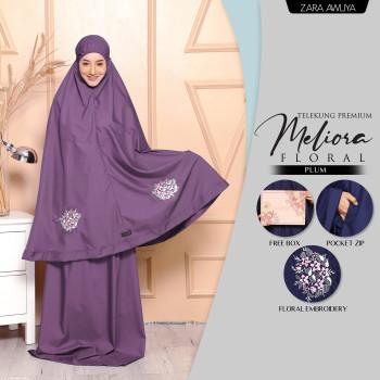 Telekung Meliora Floral (Poket) - Lavender