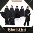 TELEKUNG MINI MARYAM - Plain Black (Berpoket untuk Umrah Haji) - ZARA AWLIYA