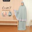 Telekung Camellita-X - Seagreen  (Ready Stock) - ZARA AWLIYA
