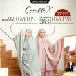 Telekung Camellita-X - Snow White (Ready Stock) - ZARA AWLIYA