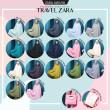 TELEKUNG TRAVEL ZARA - Baby Blue - ZARA AWLIYA