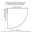 Telekung Lengan Denim Aufa (Basic + Top only) - ZARA AWLIYA