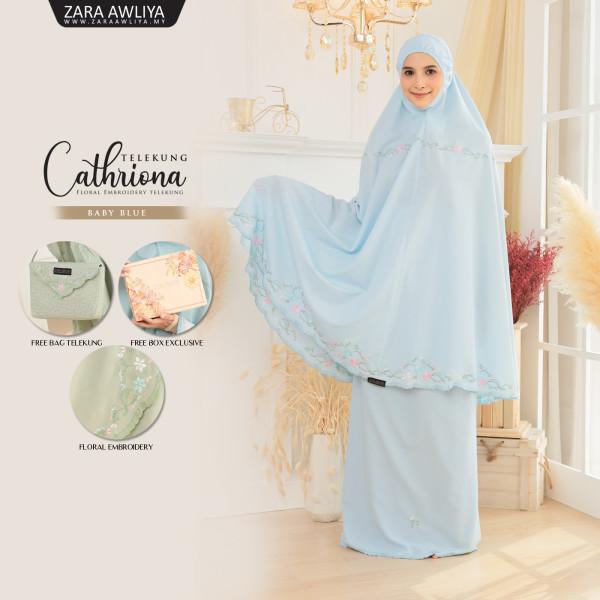Telekung Cathriona - Baby Blue - ZARA AWLIYA
