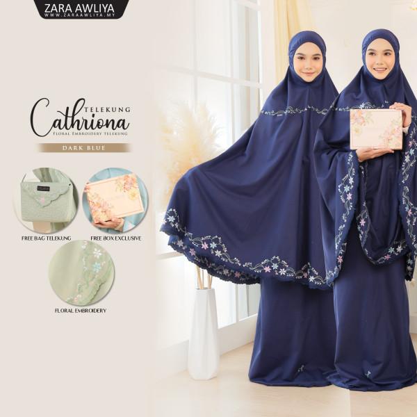 Telekung Cathriona - Dark Blue - ZARA AWLIYA