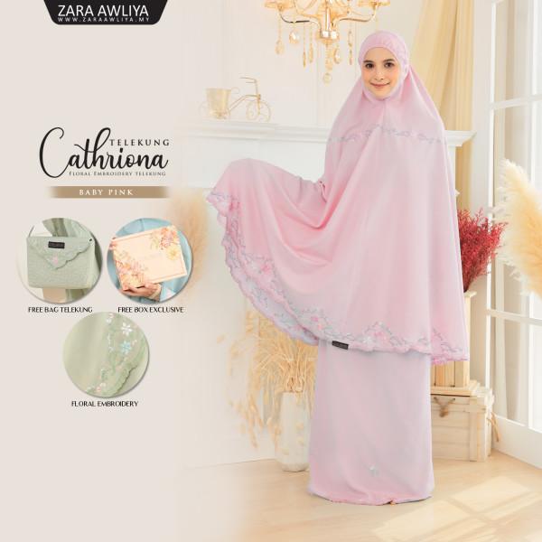 Telekung Cathriona - Baby Pink - ZARA AWLIYA