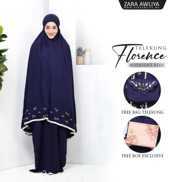 Telekung Florence - Dark Blue - ZARA AWLIYA